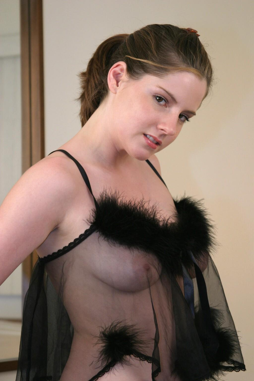 Teen Gabrielle Wearing Seethrough Negligee And Stockings -8679